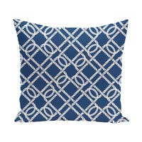 Know the Ropes 20-inch Geometric Print Outdoor Pillow