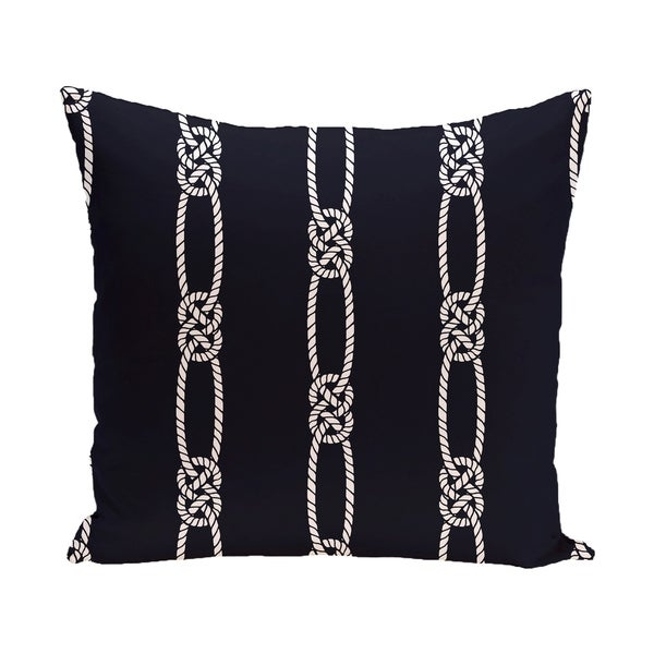 Tom Foolery 18-inch Stripe Print Outdoor Pillow