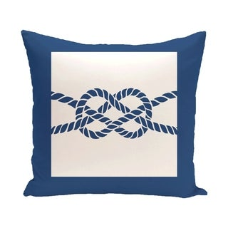 Nautical Knot 20-inch Geometric Print Outdoor Pillow