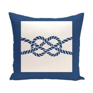 Nautical Knot 20-inch Geometric Print Outdoor Pillow