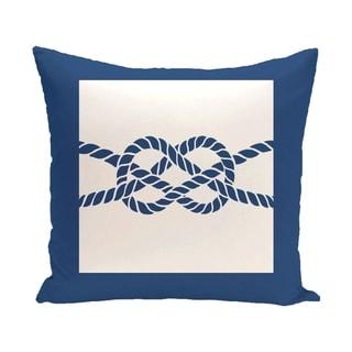 Nautical Knot 18-inch Geometric Print Outdoor Pillow