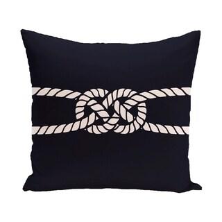 Carrick Bend 18-inch Geometric Print Outdoor Pillow