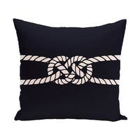 Carrick Bend 18-inch Geometric Print Outdoor Pillow