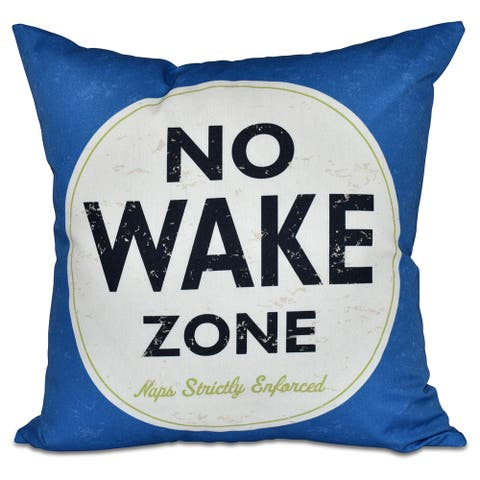Nap Zone 26-inch Word Print Pillow