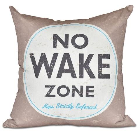 "Nap Zone Word Print 20-inch Pillow - 20"" x 20"""