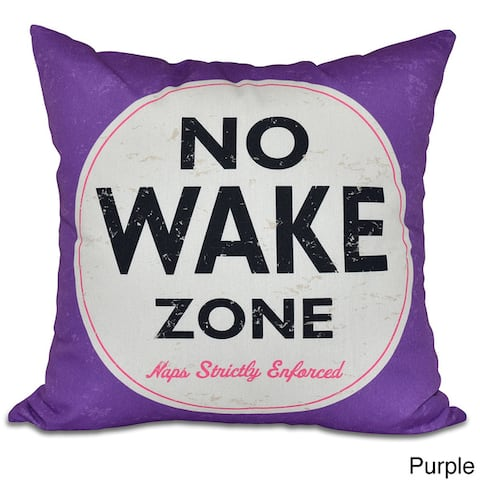 "Nap Zone Word Print 20-inch Pillow - 20"" x 20"""
