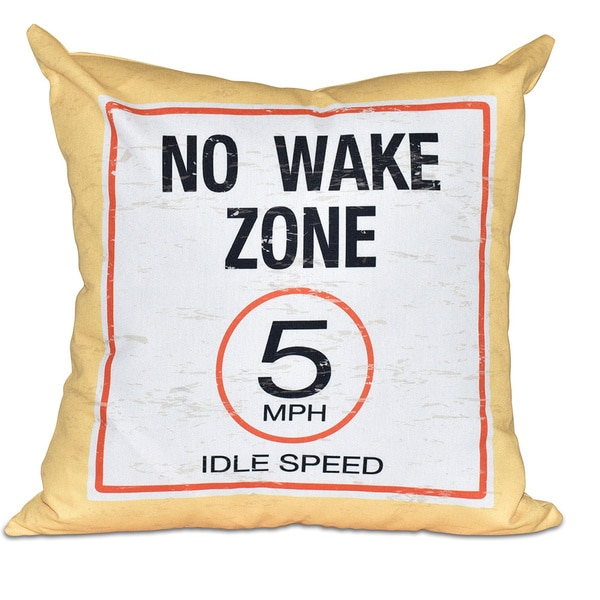 No Wake Word Print 20-inch Pillow