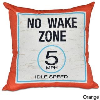 No Wake Word Print 20-inch Pillow (Orange)