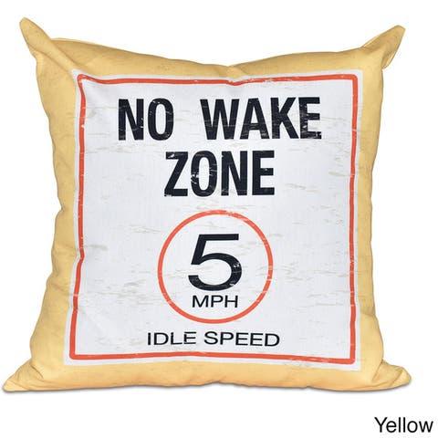 No Wake Word Print 20-inch Pillow