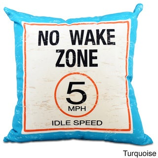No Wake Word Print 20-inch Pillow (Turquoise)