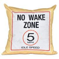 No Wake Word Print 18-inch Pillow