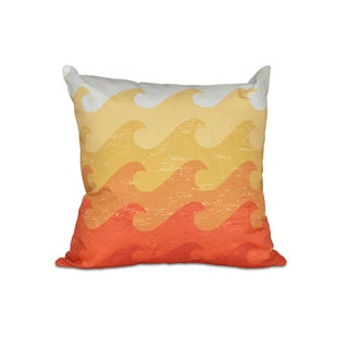 Deep Sea 20-inch Geometric Print Pillow