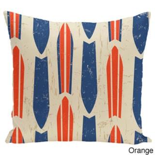 Dean Geometric Print 26-inch Pillow (Orange)