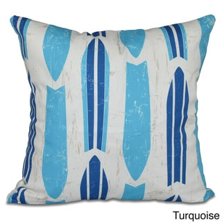Dean Geometric Print 26-inch Pillow (Turquoise)
