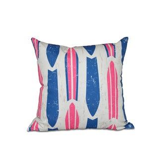 Dean Geometric Print 20-inch Pillow (Pink)