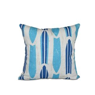 Dean Geometric Print 20-inch Pillow (Turquoise)