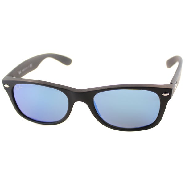 0730fce7961 Ray Ban Unisex RB 2132 New Wayfarer Rubber Black Plastic Sunglasses