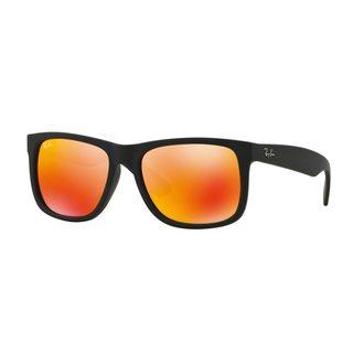 Ray-Ban Justin RB4165 Men Black/Orange Mirror Sunglasses