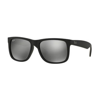 Ray-Ban Justin Color Mix RB 4165 Unisex Black Frame Grey Mirror Lens Sunglasses