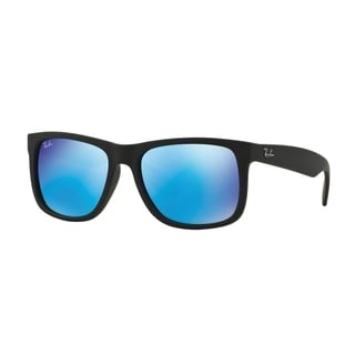 Ray-Ban Justin Color Mix RB 4165 Unisex Black Frame Blue Mirror Lens Sunglasses
