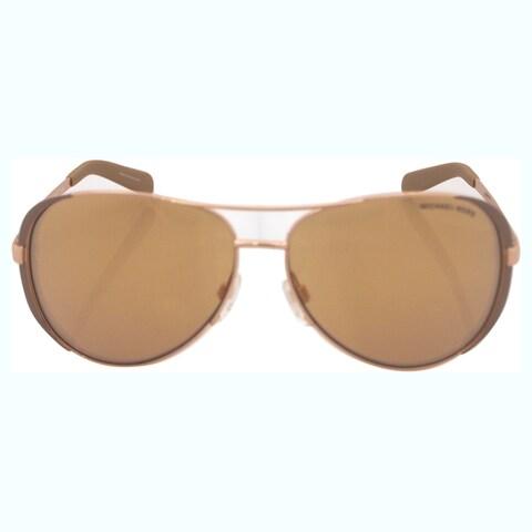 Michael Kors Womens Chelsea Rose Gold/Taupe Metal Aviator Sunglasses