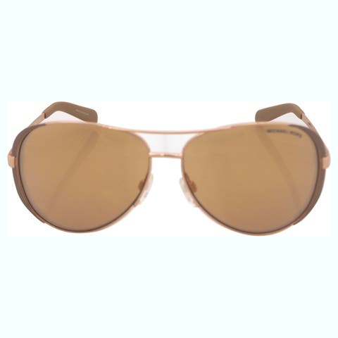 Michael Kors MK5004 1017R1 59 Rose Gold/taupe Woman Pilot Sunglasses