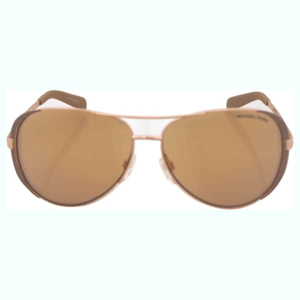 274b1763bf1 Michael Kors Womens Chelsea MK 5004 1017R1 Rose Gold And Toupe Metal  Aviator Sunglasses
