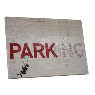 Banksy 'Parking' Gallery Wrapped Canvas Wall Art