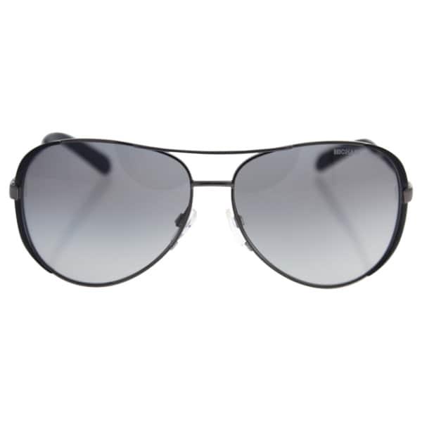 Michael Kors Womens Chelsea MK 5004 101311 Gunmetal Black Metal Aviator Sunglasses