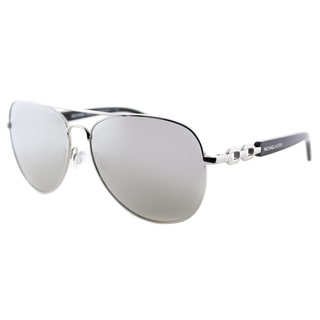 Michael Kors Womens Fiji MK 1003 10016G Silver Metal Aviator Sunglasses