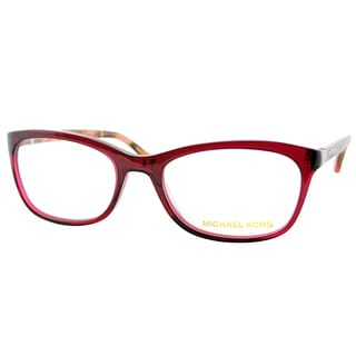 Michael Kors Womens MK 281M 618 Burgundy Rectangle Plastic Eyeglasses-52mm