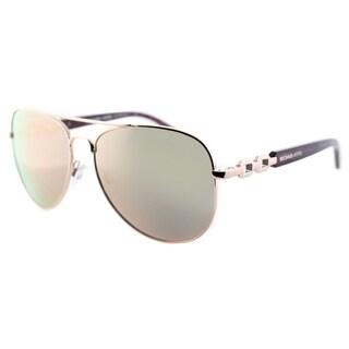 Michael Kors Womens Fiji MK 1003 1003R5 Rose Gold Metal Aviator Sunglasses