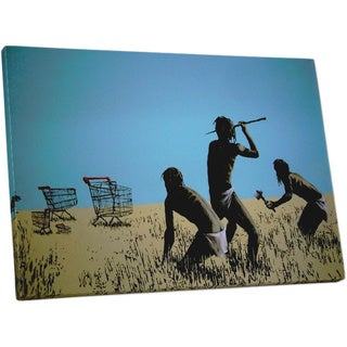 Banksy 'Hunting Carts' Gallery Wrapped Canvas Wall Art