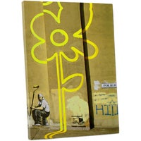 Banksy Yellow Flower Street Gallery Wrapped Canvas