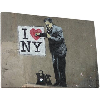 Banksy 'I Love NY' Gallery-wrapped Canvas Wall Art