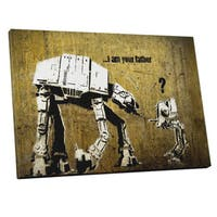 Banksy 'Fatherhood' Gallery Wrapped Canvas Wall Art