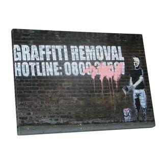 Banksy 'Graffiti Hotline' Gallery Wrapped Canvas Wall Art