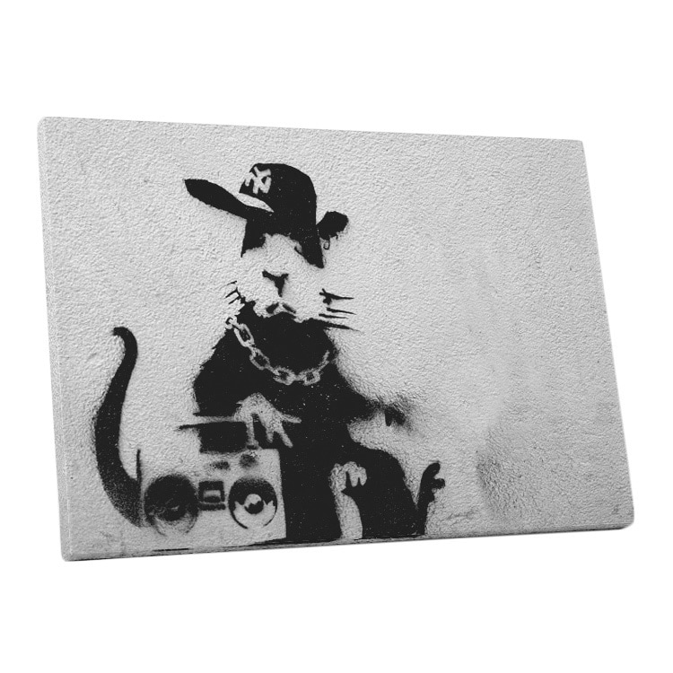Banksy 'Boom Box Rat' Gallery Wrapped Canvas Wall Art ((3...