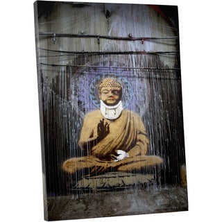 Banksy 'Injured Buddha' Gallery Wrapped Canvas Wall Art