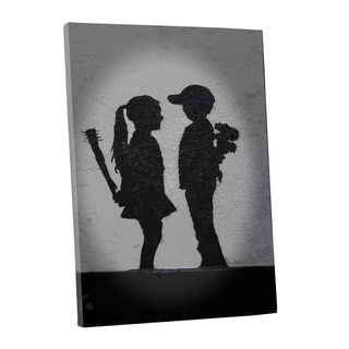 Banksy 'Boy Meets Girl' Gallery Wrapped Canvas Wall Art