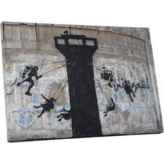 Banksy 'Watch Tower Swing Carousel' Gallery Wrapped Canvas Wall Art