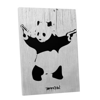 Banksy 'Panda with Guns' Gallery Wrapped Canvas Wall Art