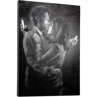 Banksy 'Mobile Lovers' Gallery Wrapped Canvas Wall Art