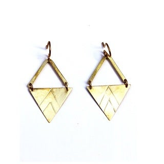 Brass Jomo Earrings