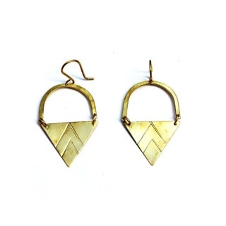 Brass Matu Earrings