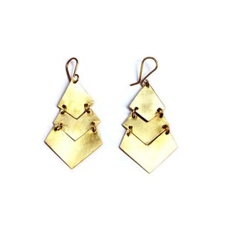 Brass Elinah Earrings