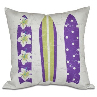 Triple Surf Geometric Print 26-inch Pillow