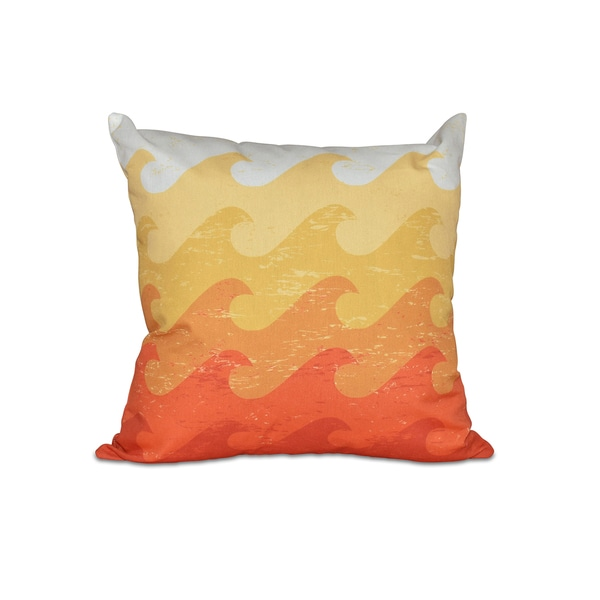 Deep Sea Geometric Print 18-inch Pillow