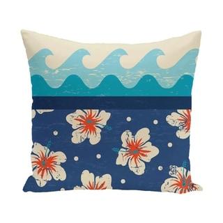 Hang Ten Floral Print 18-inch Pillow
