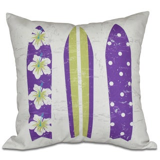 Triple Surf Geometric Print 16-inch Pillow